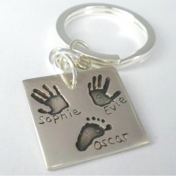 Silver Artwork Keyring