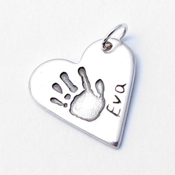 Silver Heart Shaped Charm